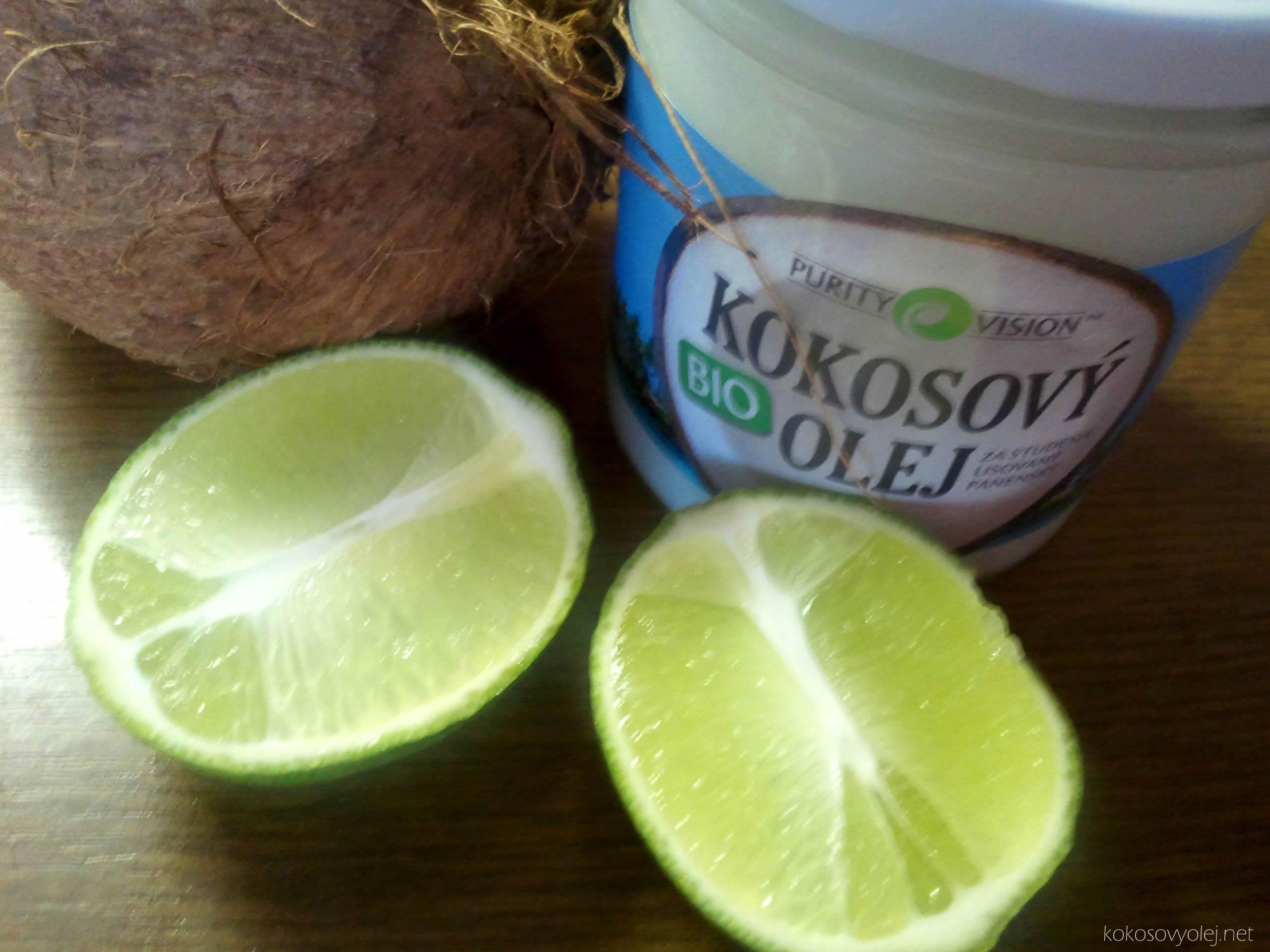 Vlasová maska z kokosového oleja a citrónovej šťavy pre mastné vlasy