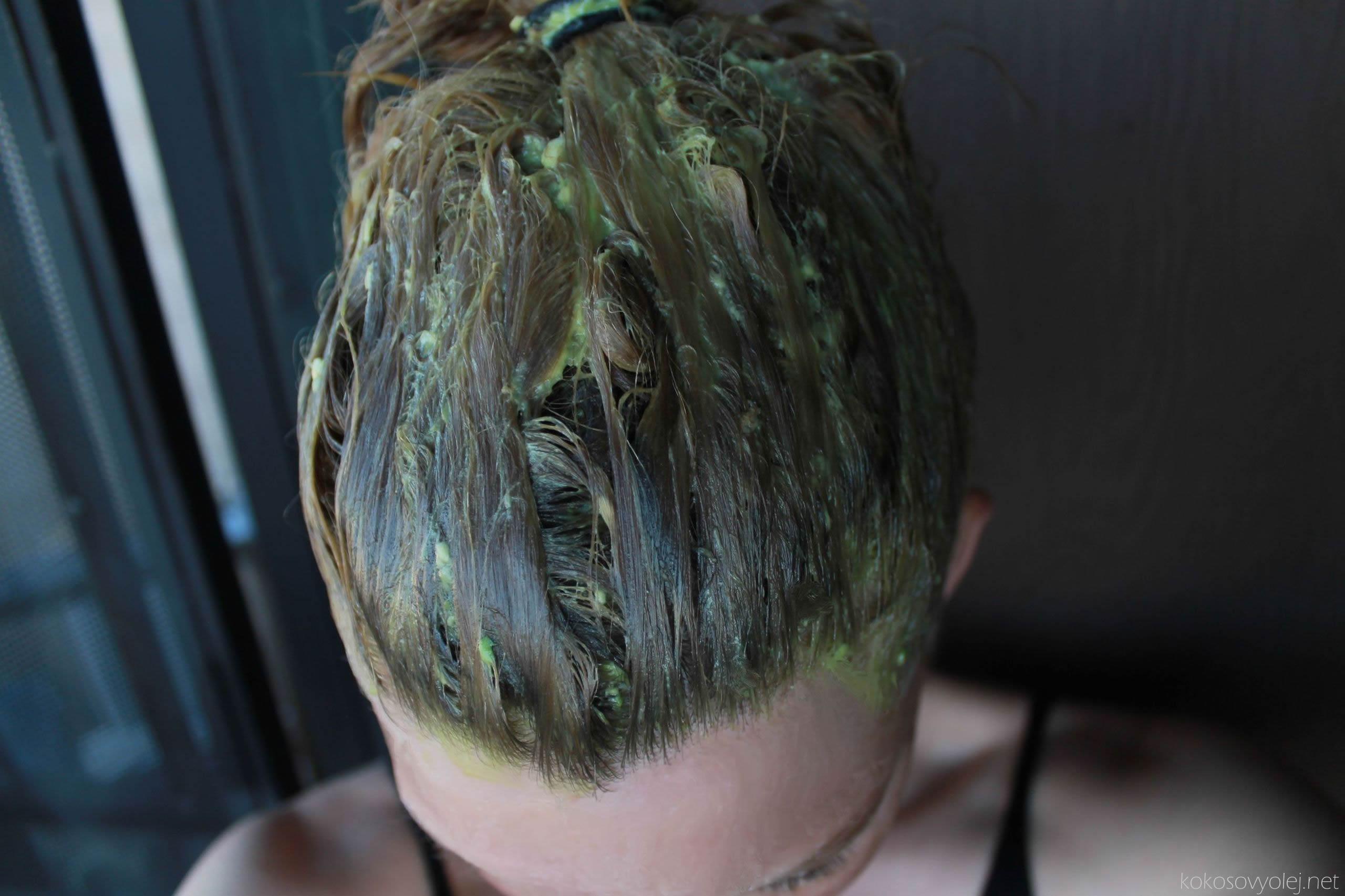 avokádová maska na vlasy