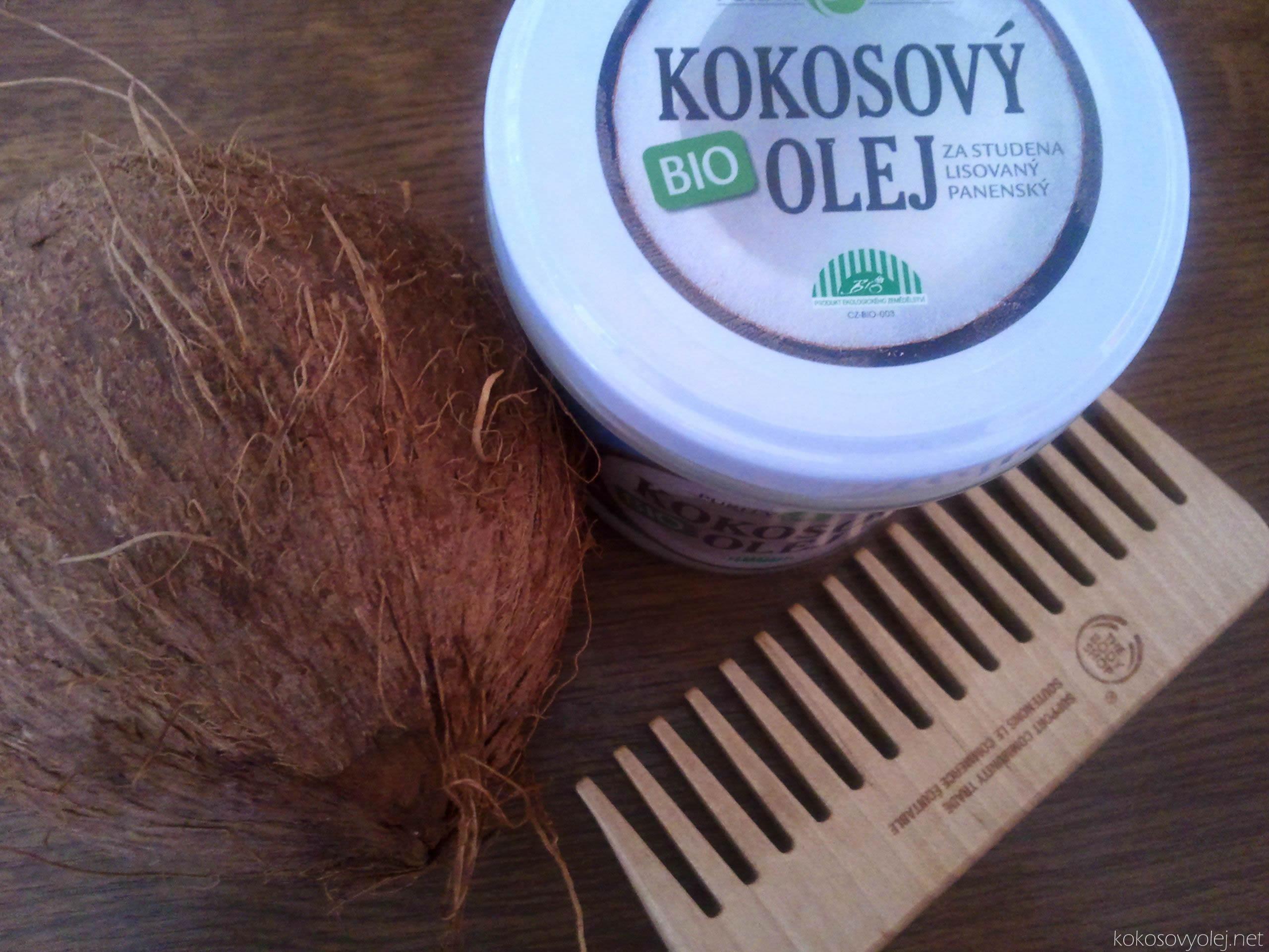 bio kokosový olej pre krásne a zdravé vlasy