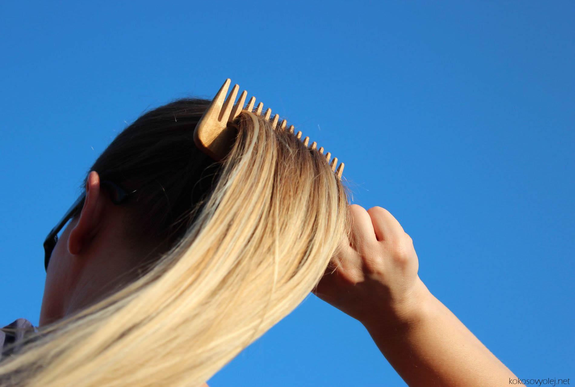 krásne a zdravé vlasy s kokosovým olejom
