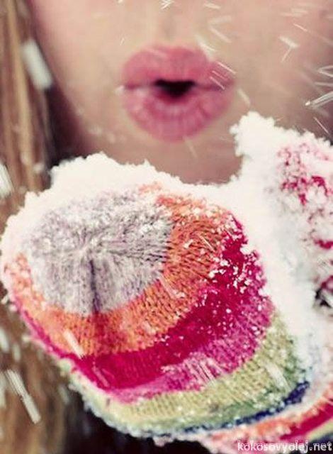 biela zima a sneh