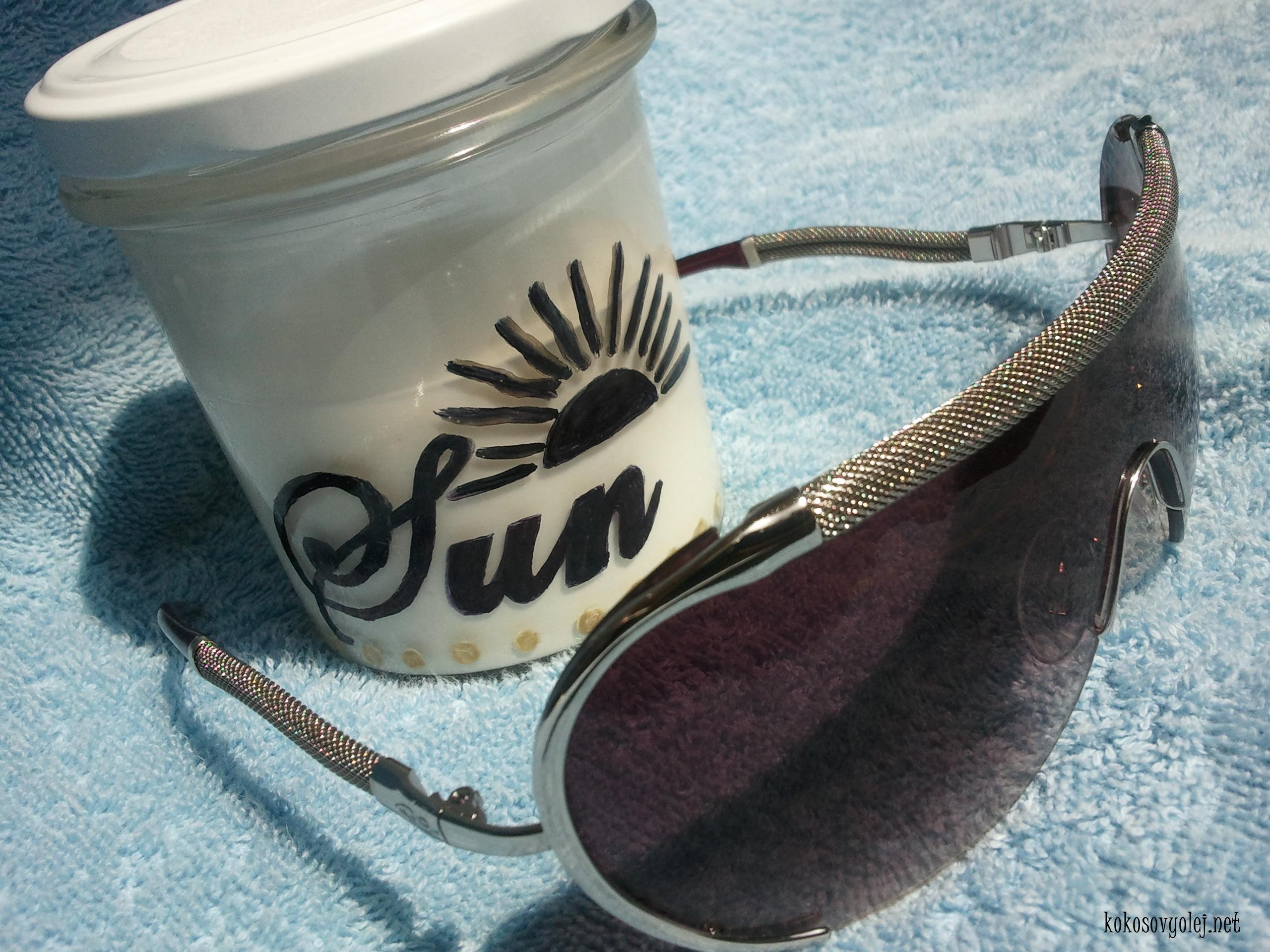 kokosový olej ako ochrana pred slnečným žiarením