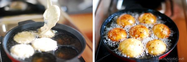 na panvici pečte sladké ryžové lievance | mariasmenu.com