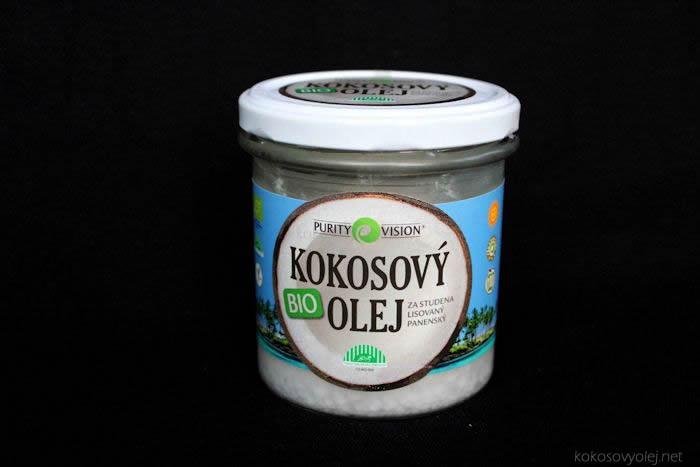 bio panenský kokosový olej purity vision