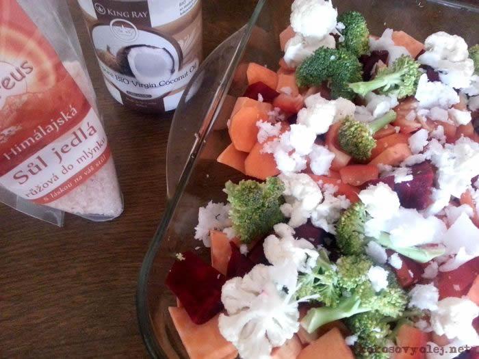 chutná pečená zelenina a batáty