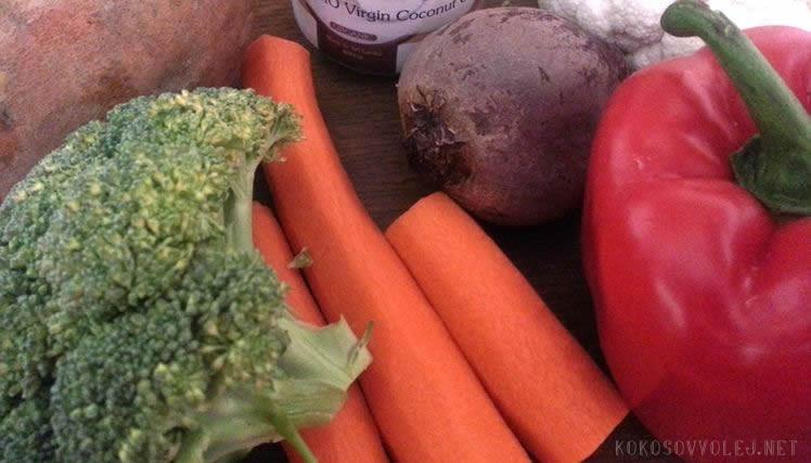 pecena zelenina na sladkokyslo