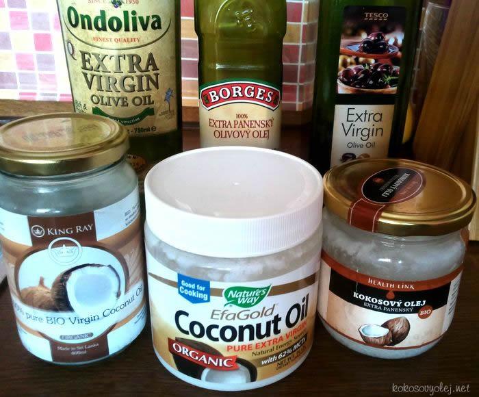 kokosový olej vs. olivový olej