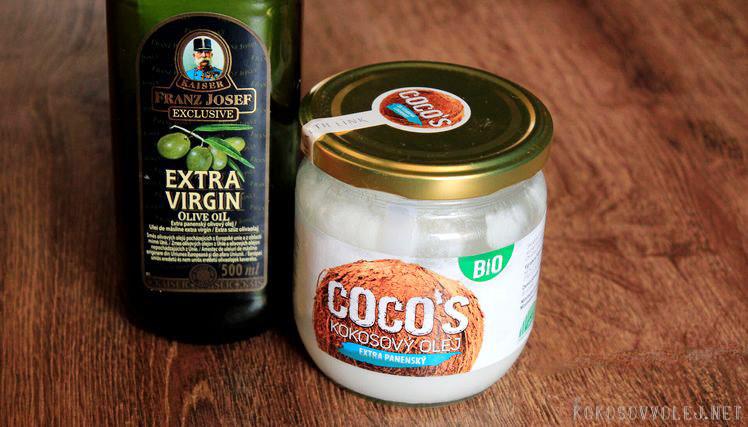 olivovy olej alebo kokosovy olej