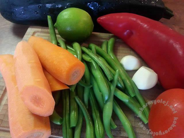 pecena zelenina s ryzou