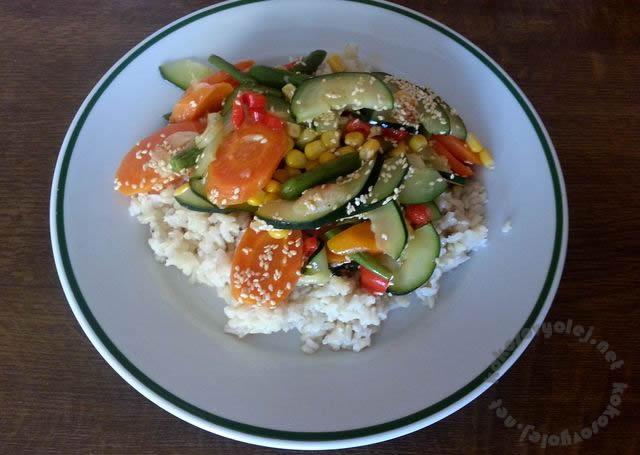 ryza so zeleninou