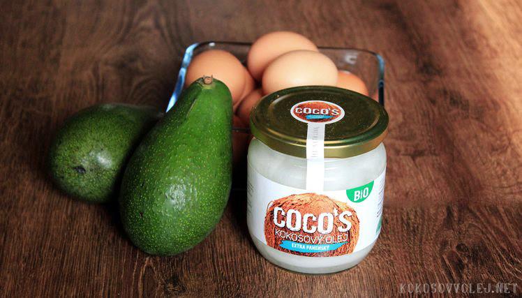 vajcia avokado kokosovy olej recepty