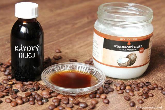 diy domáci kávový olej