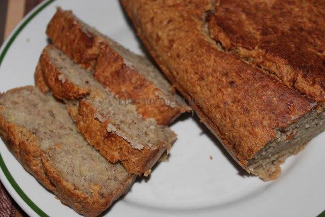 bezlepkovy chleba z bananov a kokosou recept