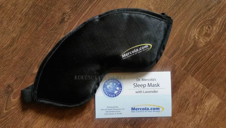 maska na spanie s levandulou sleep mask with levander dr. mercola